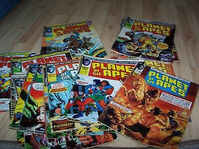Collection of 1970s Planet of the Apes  British Marvel Comics including NO.1