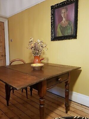 Beautiful Victorian Pitch Pine Pembroke Table