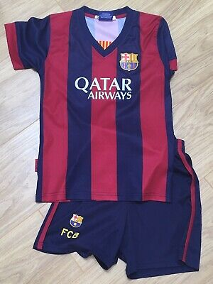 Boys Barcelona Messi Football Kit Age 8
