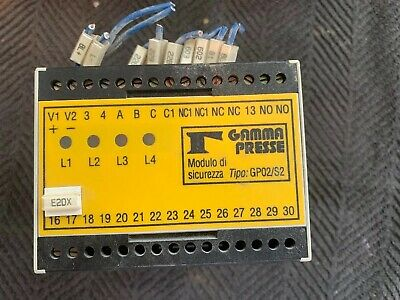 GAMMA PRESSE Model GP02/S2 safety relay 24VDC COIL!
