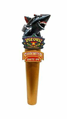 WOW NEW IN THE BOX LOST COAST BREWERY BEER SHARKINATOR SHARK TAP HANDLE w/OPENER