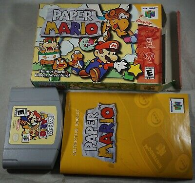 PAPER MARIO 64 (Nintendo 64, N64) Authentic Vintage Game Cart