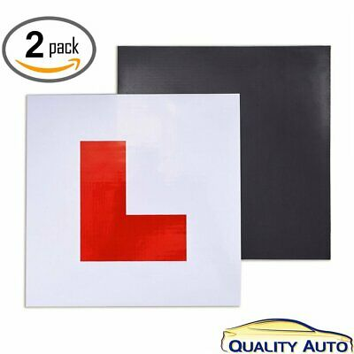 Fully Magnetic Car New Learner Driver L Plates Set of 2 Front and Back UV Safety