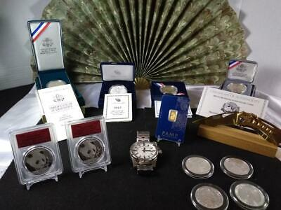Junk Drawer LOT Silver & Gold .999, Knife, BIG LOT US Foreign Silver Coins
