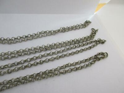 Long Guard Chain Necklace Sterling Silver Antique c1880 Victorian English. k109