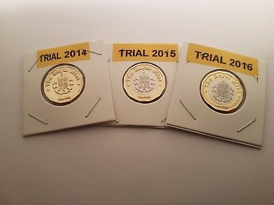 £1 one pound trial coin 2014 2015 2016 multi listing filler coins please read !!