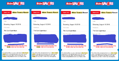 4 x Alton Towers Resort Tickets for Saturday 10th August 2019