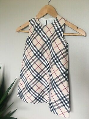 100% Guaranteed Authentic BURBERRY Toddler Dress Size L Impeccable Quality!