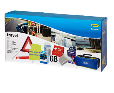 Ring European Euro Europe Continental Driving Abroad Approved Travel Kit In Bag