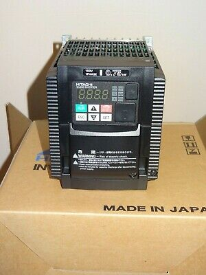 HITACHI Inverter WJ200-007MF, VFD, 1 HP, 100-120 VAC INPUT, 200-240 VAC OUTPUT