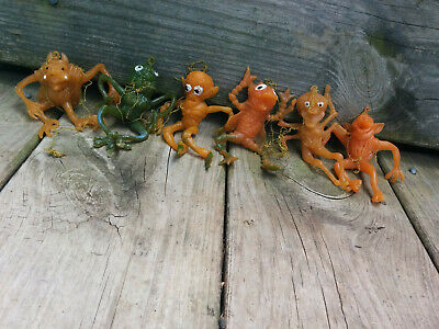 Lot of 6 Rubber Oily Jigglers Space Aliens Monsters UGLIES rare