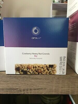 Optavia Medifast Box of 7 Cranberry Honey Nut Granola Bars