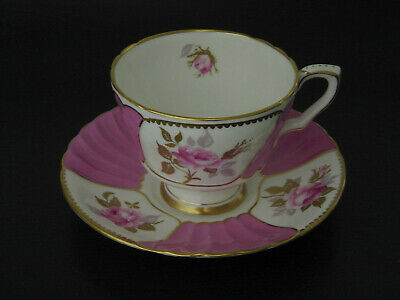 VINTAGE ROYAL STAFFORD FINE ENGLISH BONE CHINA TEACUP & SAUCER 8326 2ndof9 PAIRS