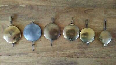 6 Antique / Vintage Clock Pendulums