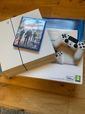 SONY PS4 Glacier White 500GB Playstation Console Bundle With The Division Game