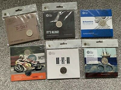 Two Pound Coins Royal Mint BUNC Packs £2 2015 2018 2019 Isle Of Man TT