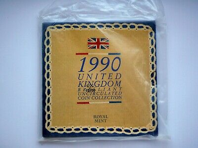 1990 Royal Mint Annual Coin Set Collection BU Brilliant Uncirculated