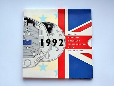 1992 Royal Mint Annual Coin Set Collection BU Brilliant Uncirculated