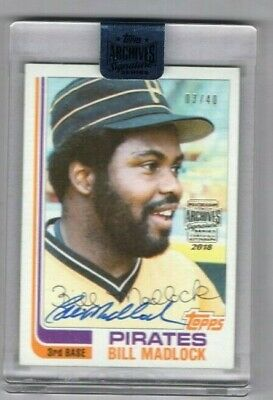 2018 Topps Archives Signatures Series Bill Madlock Auto #3/40