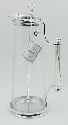 Godinger Glass and Silver Plated Martini Alcohol Mixing Pitcher w/Stirrer 2006