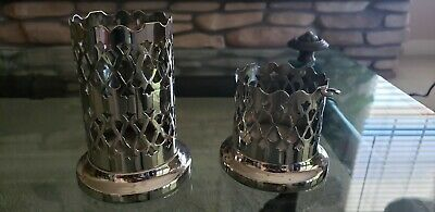 2 Pierced decorative Silverplate Condiment Holders Made in England