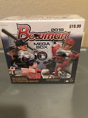 2019 Bowman Chrome Mega Box Sealed Exclusive Mojo Refractors! Wander Franco!