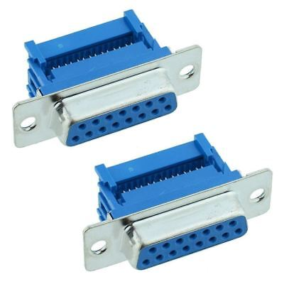 2 x 15-Way IDC Female D Socket Connector