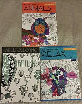 9 COLORING BOOK Lot Books Adult Meditation Zen Geo Yoga