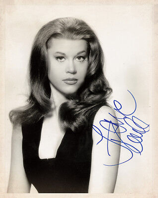Early JANE FONDA Actress Beauty 60's Sex Symbol 8x10 Photograph Autograph RP