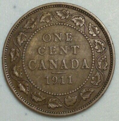 1911 Canada Large Cent King George CH#1002