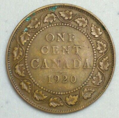 1920 Canada Large Cent King George CH#1007
