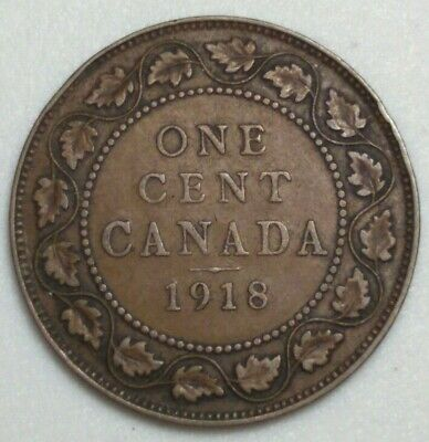 1918 Canada Large Cent King George CH#1004