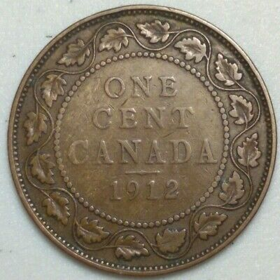 1912 Canada Large Cent King George CH#1001