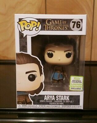 Funko Pop! Game of Thrones Arya Stark #76 2019 ECCC Shared Exclusive w/Protector