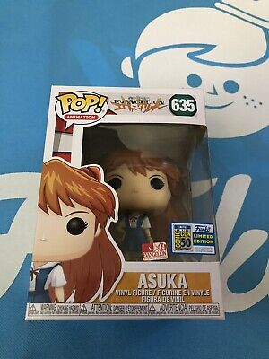 SDCC 2019 Funko POP Neon Genesis Evangelion ASUKA #635 Official Sticker IN HAND