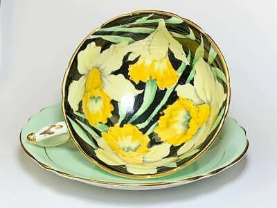 Paragon Daffodil Black Cup and Saucer
