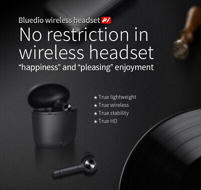 Bluedio Hi Earbuds Headphone Bluetooth Stereo Sport Earphone Wireless Headset H1
