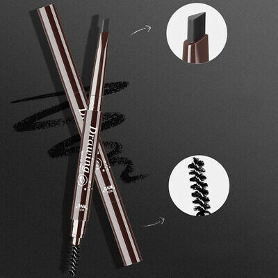DNM black waterproof double-headed eyebrow pencil with brush makeup beauty tools