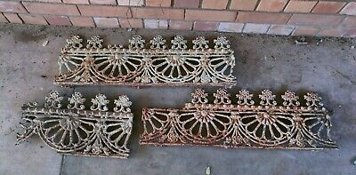 Antique Victorian Iron Lacework 220cms.