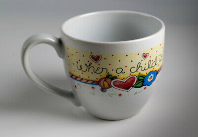 Mary Engelbreit Cup Mug When A Child is Born So Is Grandmother ME Andrews McMeel