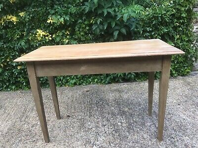 ANTIQUE VINTAGE1930s HALL CONSOLE   SIDE TABLE PAINTED LEGS POLISHED BEECH TOP