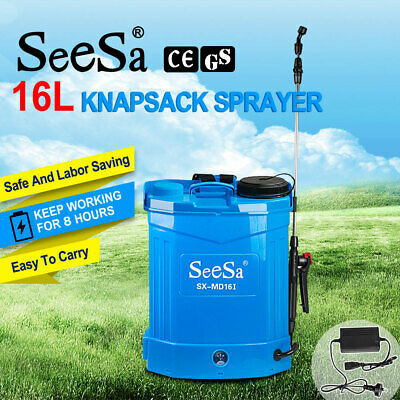 12v 16l Electric Weed Sprayer Rechargeable Backpack Farm Garden Pump Spray