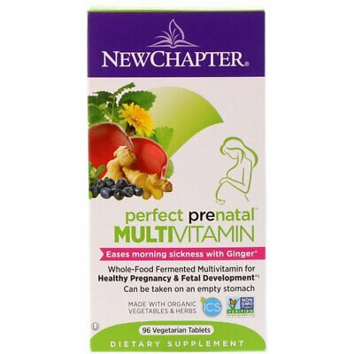Wholefood Prenatal Multivitamin - with Ginger For Morning Sickness - 96Vtabs