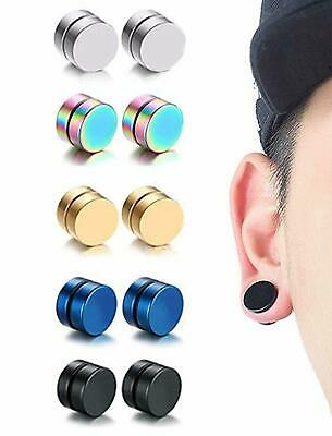 Hot New Trendy Fashion Round Surgical Steel Non-Piercing Clip On Magnet Earrings