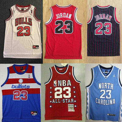 #23 swingman de Chicago Bulls Michael Jordan Mens maillot Retro basket Mesh Vest