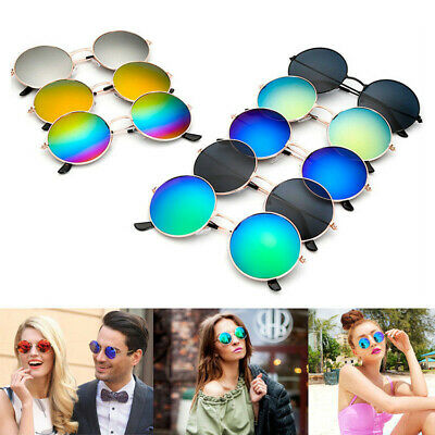 Fashion Vintage Retro Mirror Round Circle SUN Glasses Steampunk Punk Sunglasses