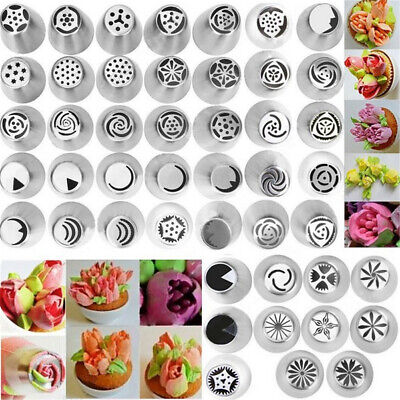 1~7X Russian Tulip Flower Xmas Cake Icing Piping Nozzles Decor Tips Baking Tools