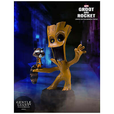 Gentle Giant Guardians of the Galaxy Groot & Rocket Raccoon Animated Statue
