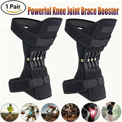 2X Knee Brace Powerful Booster Leg Joint Lift Support Pad Rebound Spring Force