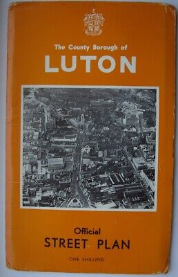 The County Borough of Luton Official Street Plan ~ Circa 1960's/1970's ~ Good Co